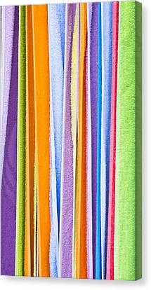 Colorful Towels Canvas Print by Tom Gowanlock