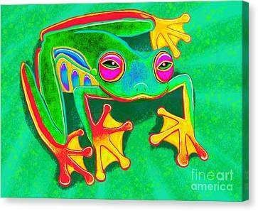 Colorful Tree Frog Canvas Print by Nick Gustafson