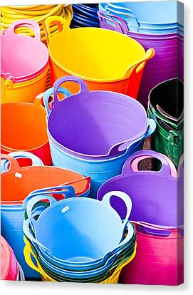 Colorful Tubs Canvas Print by Tom Gowanlock