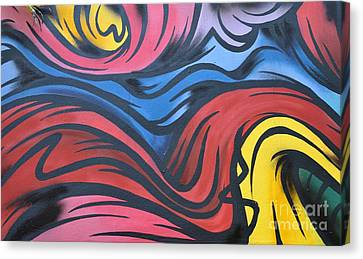 Canvas Print featuring the photograph Colorful Urban Street Art From Singapore by Imran Ahmed