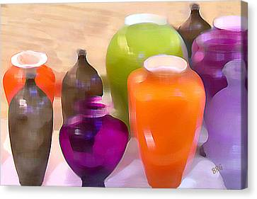 Colorful Vases I - Still Life Canvas Print by Ben and Raisa Gertsberg