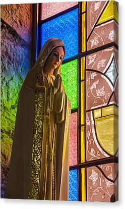 Christian Sacred Canvas Print - Colorful Virgin Mary by Jess Kraft