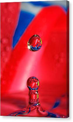 Canvas Print featuring the photograph Colorful Water Drop by Peter Lakomy