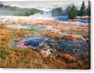 Canvas Print featuring the photograph Colorful Waters by Lars Lentz