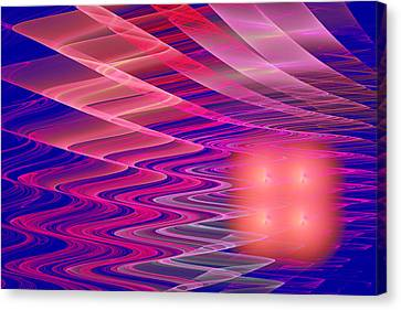 Colorful Waves Abstract Fractal Art Canvas Print by Keith Webber Jr