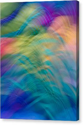 Colorful Waves Canvas Print by Sylvia Herrington