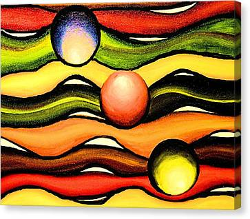 Colorful Wavy Lines Canvas Print by Victoria Rhodehouse
