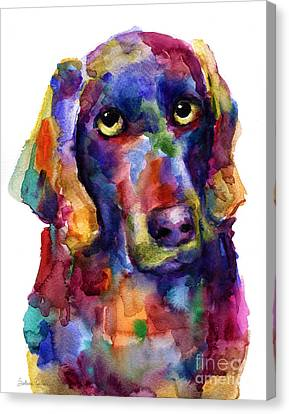 Colorful Weimaraner Dog Art Painted Portrait Painting Canvas Print by Svetlana Novikova