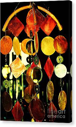 Colorful Wind Chime Canvas Print by Susanne Van Hulst