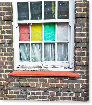 Colorful Window Canvas Print