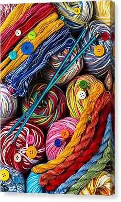 Colorful World Of Art And Craft Canvas Print by Garry Gay