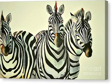 Colorful Zebras Painting Canvas Print