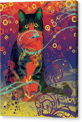 Colorfur Cat Canvas Print