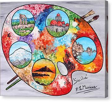 Colori Di Sicilia Canvas Print