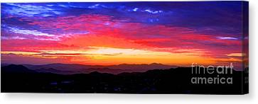 Colorific Sunset Canvas Print