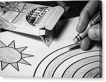 Coloring Without Color Canvas Print