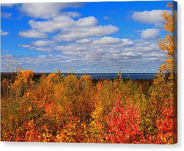 Colors Above Lake Superior Canvas Print