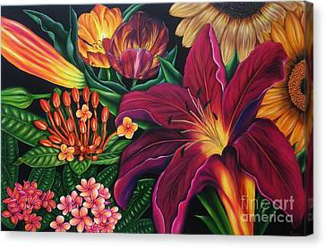 Colors Garden Canvas Print by Paula Ludovino
