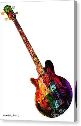 Caricature Canvas Print - Colors Guitar  by Mark Ashkenazi