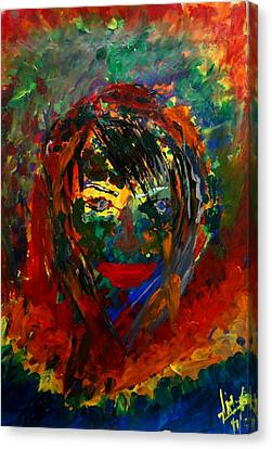 Colors In A Girls Life Canvas Print by Aditya Ravi