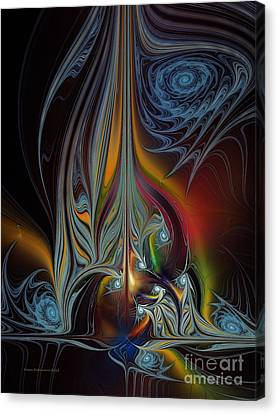 Colors In Motion-fractal Art Canvas Print by Karin Kuhlmann