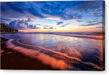 Colors In Surf Canvas Print by Everet Regal