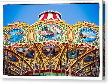 Casino Pier Canvas Print - Colors Of A Carousel by Colleen Kammerer
