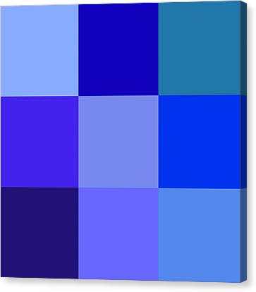 Colors Of Blue Canvas Print by Karon Melillo DeVega
