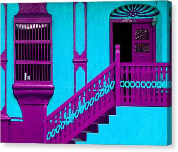 Fuschia Canvas Print - Colors Of Guatemala by Catherine Arnas