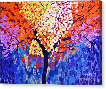 Colors Of Life Canvas Print by Jyoti Vats