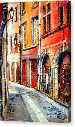 Medieval Canvas Print - Colors Of Lyon 3 by Mona Edulesco