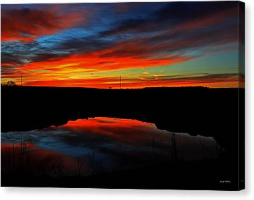 Colors Of Nature- Sunrise 002 Canvas Print by George Bostian
