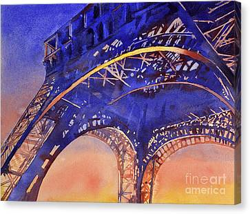 Colors Of Paris- Eiffel Tower Canvas Print by Ryan Fox