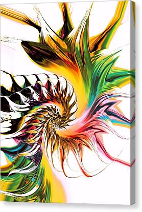 Swirling Desires Canvas Print - Colors Of Passion by Anastasiya Malakhova