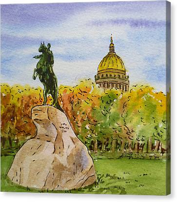 City-scapes Canvas Print - Colors Of Russia Monuments Of Saint Petersburg by Irina Sztukowski