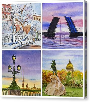 Colors Of Russia Saint Petersburg Canvas Print