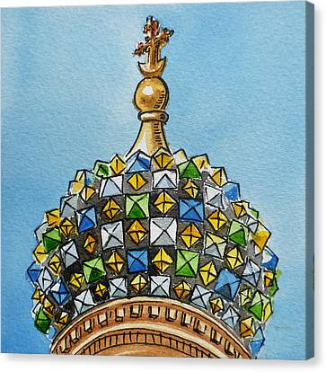 City-scapes Canvas Print - Colors Of Russia St Petersburg Cathedral IIi by Irina Sztukowski