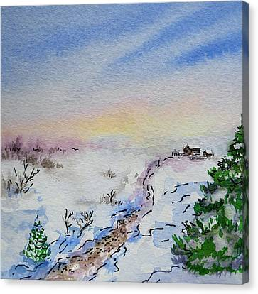 City-scapes Canvas Print - Colors Of Russia Winter by Irina Sztukowski