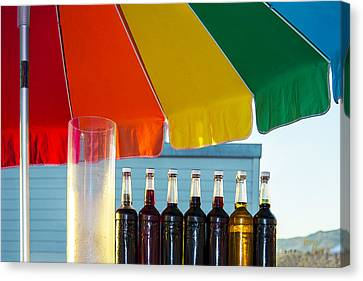 Colors Of Santa Monica Beach Canvas Print by Ben and Raisa Gertsberg