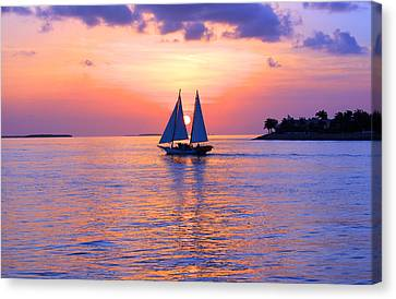 Colors Of Sunset Canvas Print