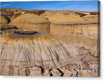 Colors Of The Badlands Canvas Print by Vivian Christopher