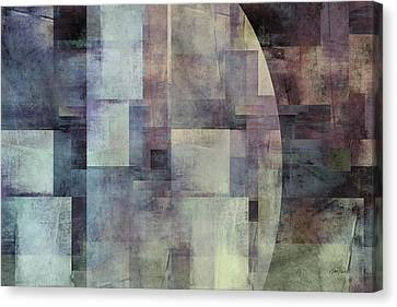 Colors Of Twilight Abstract Art Canvas Print by Ann Powell