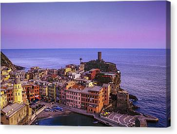 Colors Of Vernazza Canvas Print by Andrew Soundarajan
