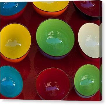 Canvas Print featuring the photograph Colors Tray by Dany Lison