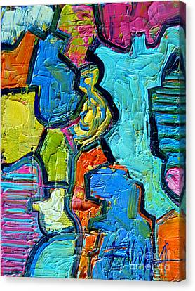 Colorscape #07 - Puzzled Canvas Print by Mona Edulesco