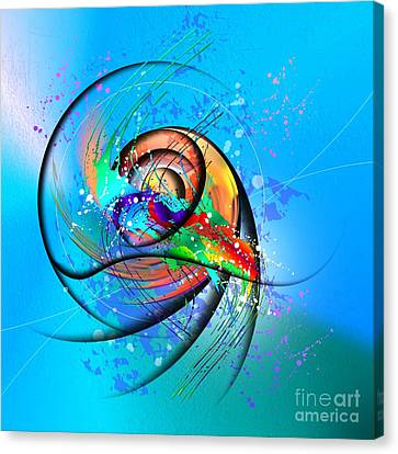 Colorwave Canvas Print by Franziskus Pfleghart