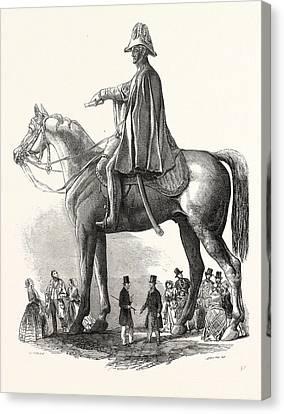 Colossal Statue Of The Duke Of Wellington Canvas Print