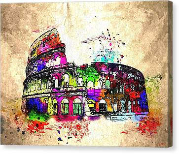 Colosseo Grunge  Canvas Print