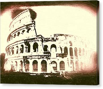 Colosseo Vintage Canvas Print