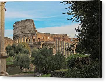 Colosseum Afar Canvas Print